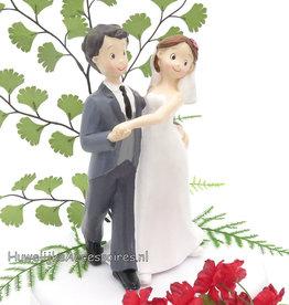 Bruidspaar 'Eerste Dans' taarttopper