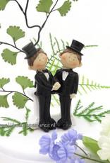 Komische homopaar bruiloft taarttopper