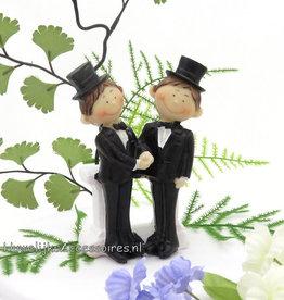 Homopaar bruiloft taarttopper