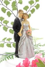 25 jaar zilver jubileum bruidstaart topper
