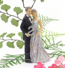 25 jaar zilveren Jubileum bruidspaar