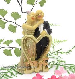 Gouden jubileum bruiloft bruidspaar