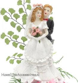 Boeren bruidspaar taarttopper