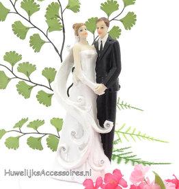 Mooi elegante bruidspaar taart topper