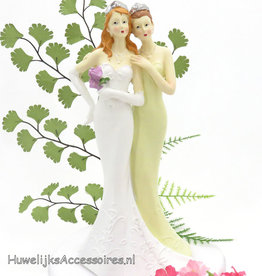 Vrouwen bruidspaar taarttopper