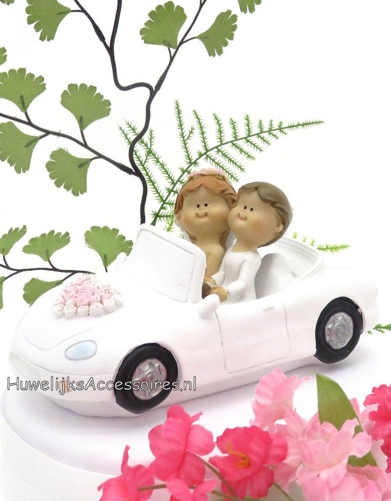 Mooie vrouwen bruidspaar als taarttopper
