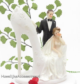 Schitterende bruidspaar taart topper
