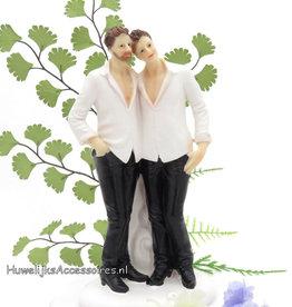 Homo bruidspaar taarttopper