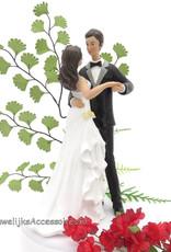 Dansende bruid met bruidegom taarttopper
