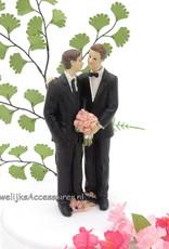 Leuke mannenpaar bruidspaar taarttopper