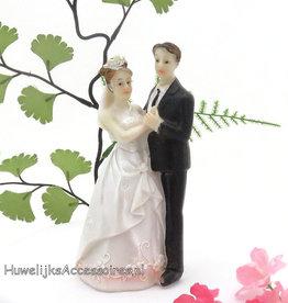 Dansende huwelijkspaar taarttopper