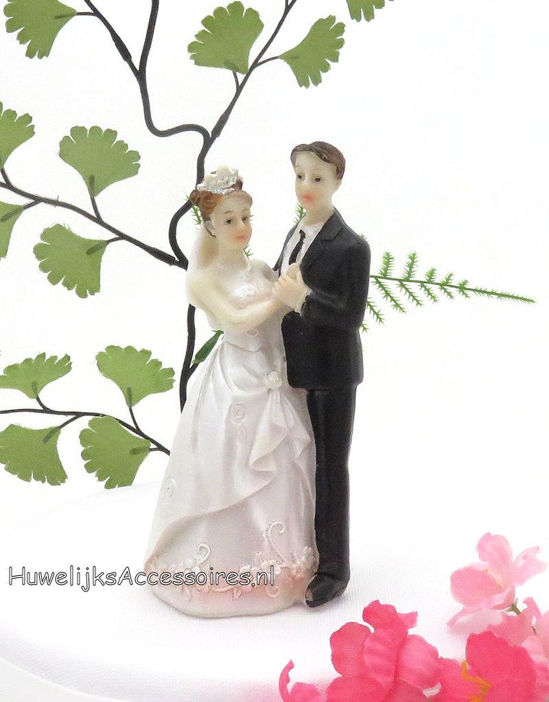 Zeer mooie dansende huwelijkspaar taart topper