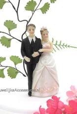 Prachtige huwelijkspaar taart topper