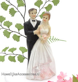 Mooie elegante bruidspaar taarttopper
