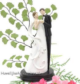 Prachtige moderne bruidspaar taart topper