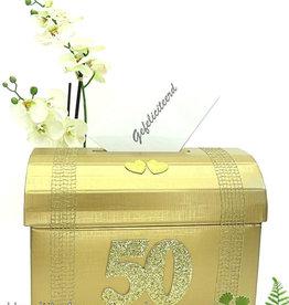 Gouden  huwelijk enveloppendoos