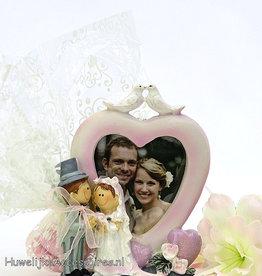Bruidssuiker met fotolijstje