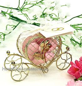 Gouden koets bruiloft bedankje