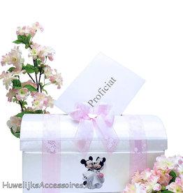 Disney Mickey en Minnie huwelijk receptie enveloppendoos