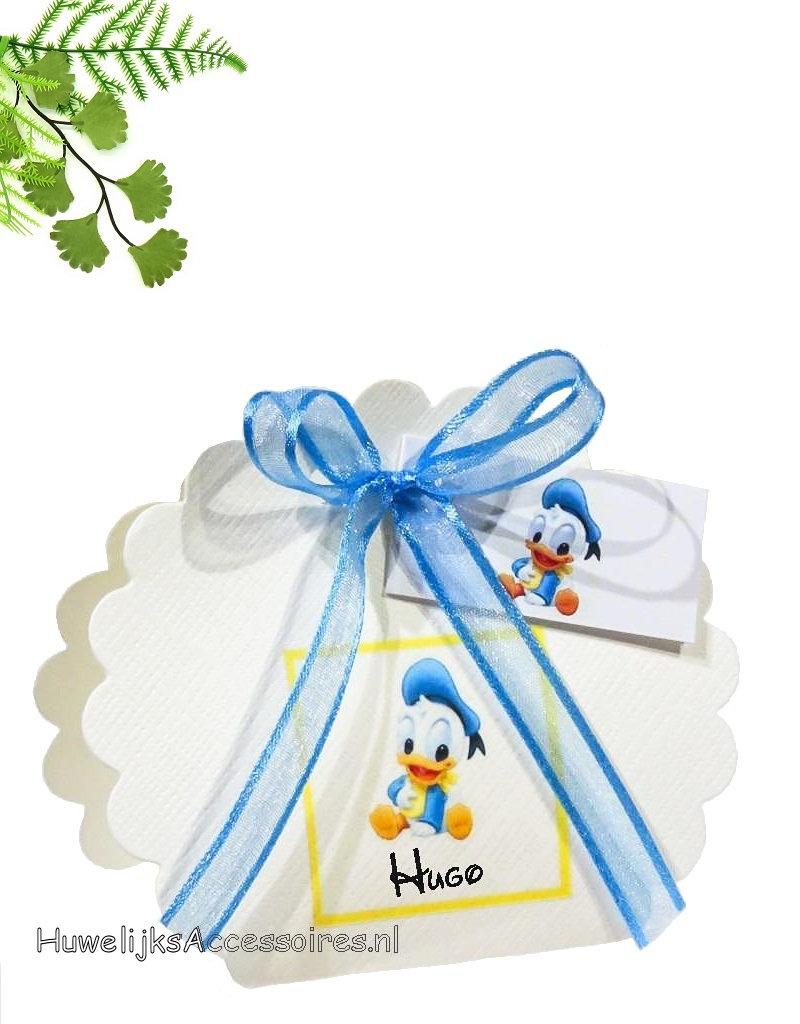 Disney Feestbedankje waaier doosje met baby Donald Duck