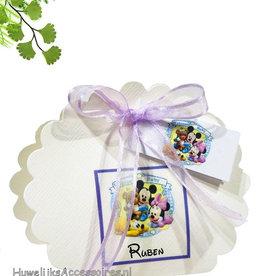 Disney Geboorte bedankje met Mickey, Minnie en Pluto