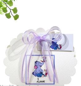 Disney Prachtige geboorte bedankje met lollifant