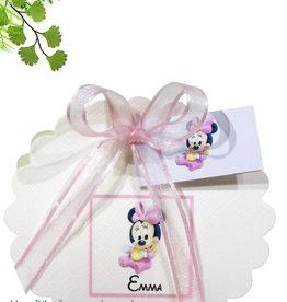 Disney Minnie Mouse geboorte bedankje waaier doosje
