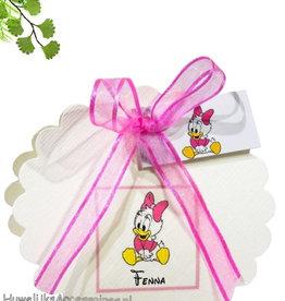 Disney Geboorte bedankje met Disney Katrien Duck