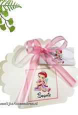 Disney Geboorte of doop bedankje met prinses Ariel erop