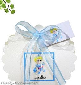 Disney Prinses Assepoester geboorte bedankje