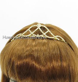 Bruid tiara met strass steentjes