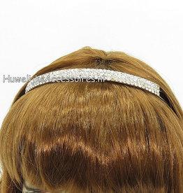 Bruidsdiadeem zilver gekleurd