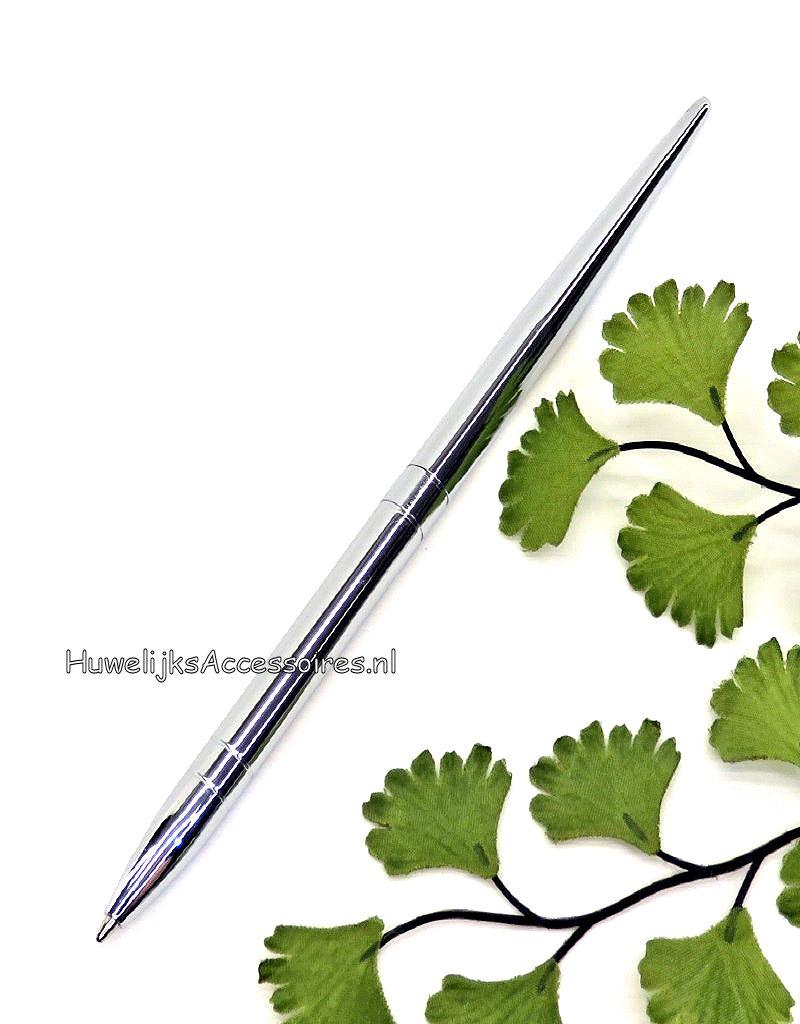 Prachtige zilveren receptie pen geschikt om te tekenen