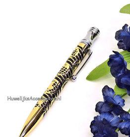 Prachtige goud en zwart receptie pen