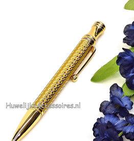 Prachtige gouden receptie pen