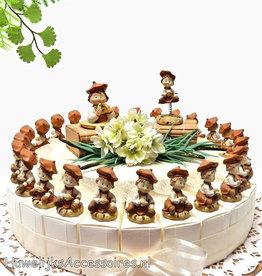 Communie bedankjes taart met kinderen