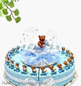 Baby shower bedankjes met blauwe beertjes