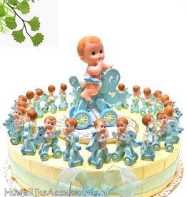 Baby shower bedankjes met blauwe baby's