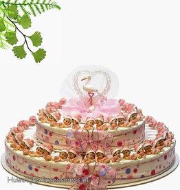 Baby shower bedankjes met roze baby's