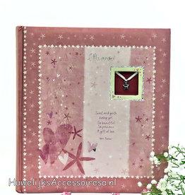 Roze baby foto album voor meisjes