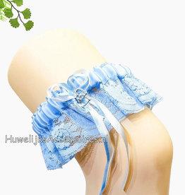 Blauwe luxe kousenband