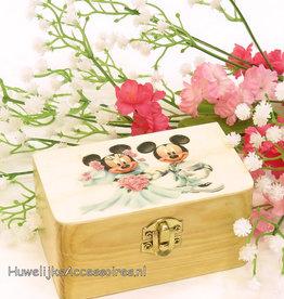 Disney Mickey en Minnie trouwring doosje