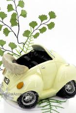 Super leuke volkswagen spaarpot als bruidstaart topper