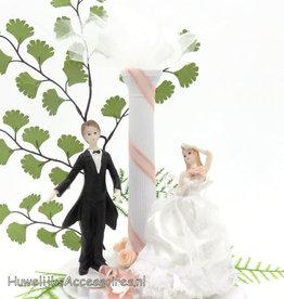 Prachtige huwelijkskoppel taart topper