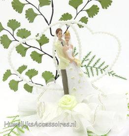 Charmante bruidspaar taarttopper