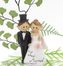 'Just Married' bruidstaart topper