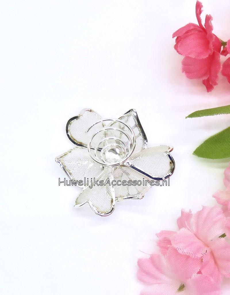 Prachtige gaasbloem curlie met grote strass steen center