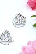 Prachtige set van 2 hartvormige strass steen curlies
