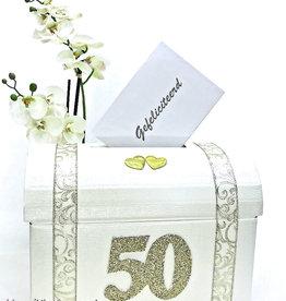50 jaar jubileum bruiloft enveloppen box