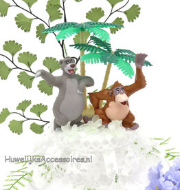 Disney Baloo en King Louie trouwtaart topper